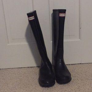 Hunter rain boots in black